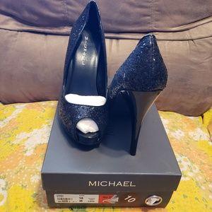 Michael Shannon Black Glitter Platform Shoes